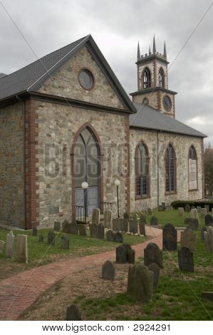 Old Church And Graveyard