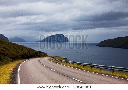road on Faeroe islands