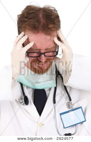 Doctor Having Headache