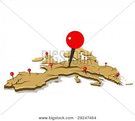 concepto de ilustración de crisis europea. crisis de la eurozona