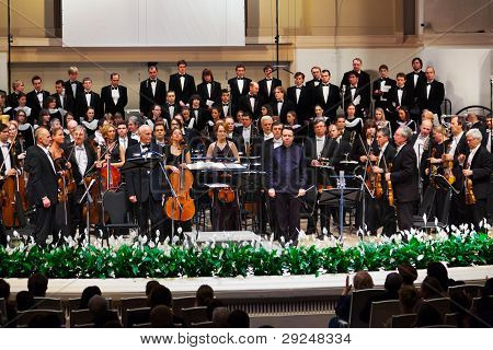 Moscow, Russia - November 15: Russian National Orchestra Performs At Chaikovsky Hall On November 15,