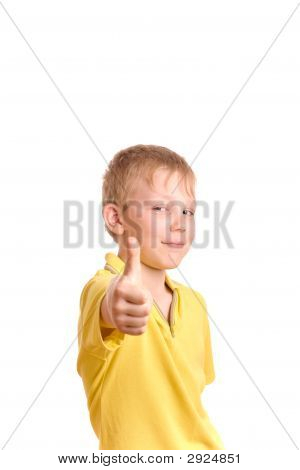 Smiling Teenager Show Thumb Up Sign
