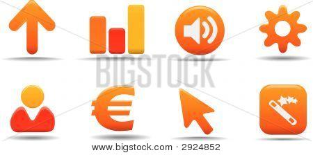 Web Icon Set 3 | Pumpkin Series