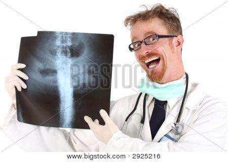 Médico com Xray
