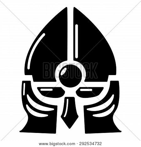 Historical Knight Helmet Icon Simple