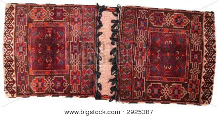 Oriental Pouch Carpet On White Background