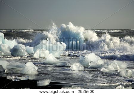 Icebergs On The Beach