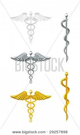 Caduceo, vector set