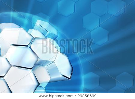 Science Background Blue, bitmap copy