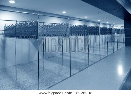 Empty Cloakroom