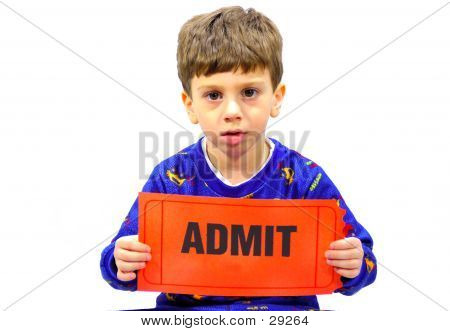 Child Holding Ticket