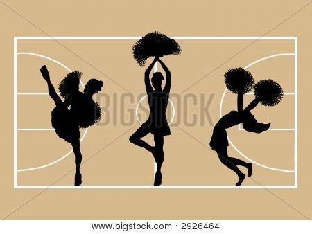 Cheerleaders Basketball