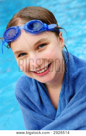 Teenage Girl At Swimming Pool