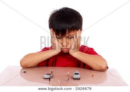 Little Boy Imagining