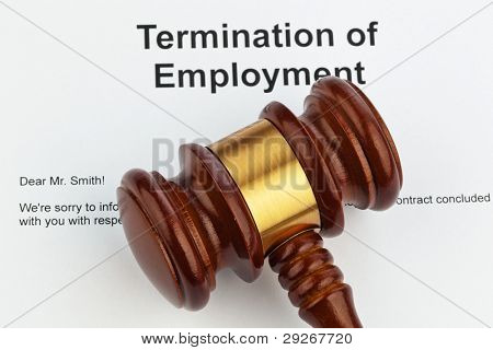 The termination of  an employer (in English).