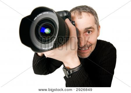 Fisheye Photo Of Photographer