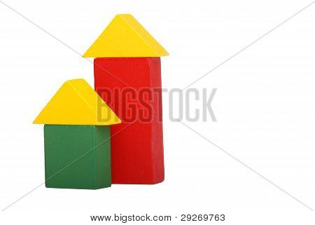 toy blocks houses