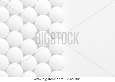 Pills Background On White