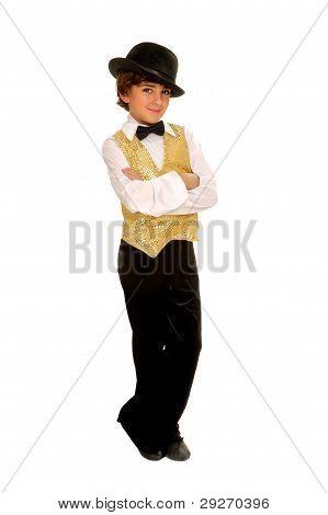 Boy Jazz Dancer In Costume