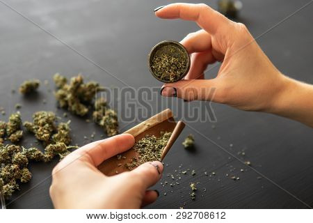 Marijuana Use Concept Close Up