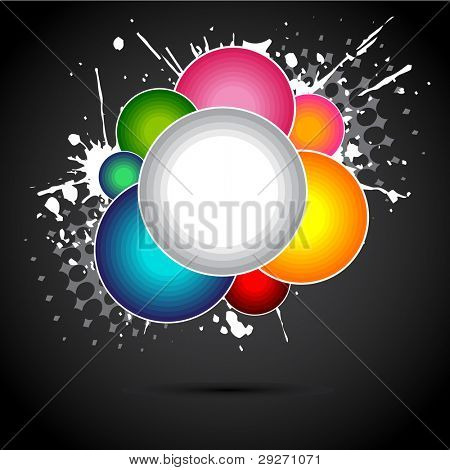 Ilustración de la forma circular de color sobre fondo de vector abstracto