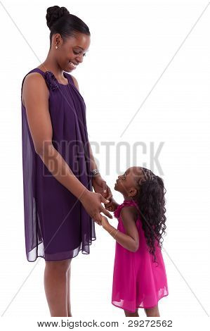 glückliche Mutter mit ihrer Tochter