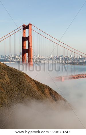 The Golden Gate in a Fog Bank
