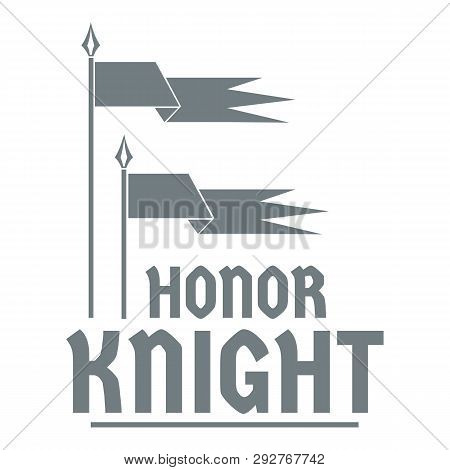 Flag Knight Logo Simple Illustration