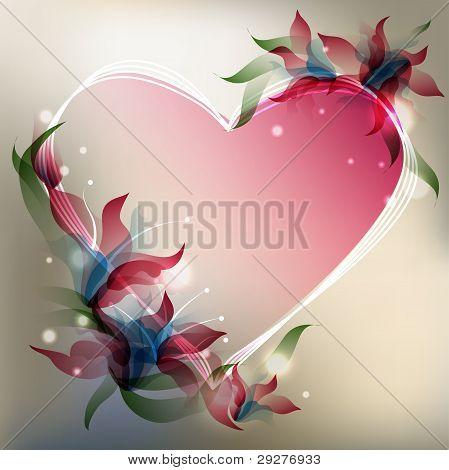 Transparent Flowers Background