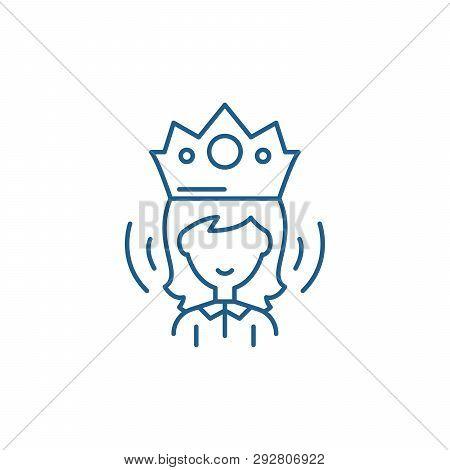 Queen Line Icon Concept Queen