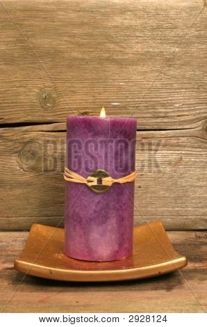 Purple Feng Shui Candle