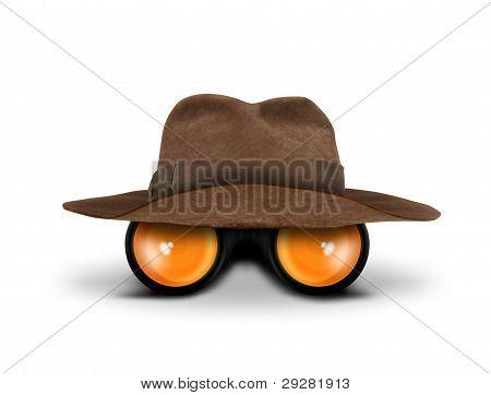 Hunters Hat And Binocular