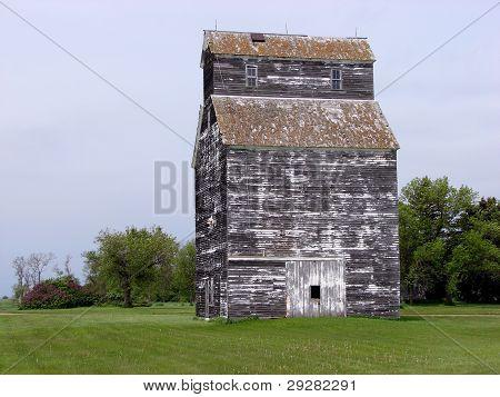 weathered grain elevator