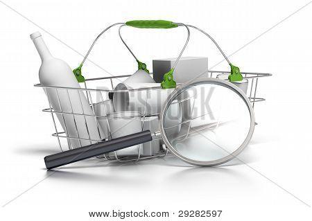 Average shopping basket analysis