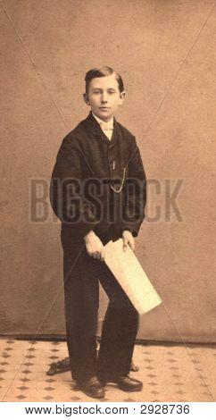 Family Photo Vintage Era 1880