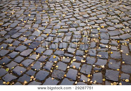 Cobble-stone road