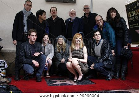 LOS ANGELES - JAN 23: Marg Helgenberger; CSI cast members at a ceremony where Marg Helgenberger is honored with a star on the Hollywood Walk of Fame on January 23, 2012 in Los Angeles, California