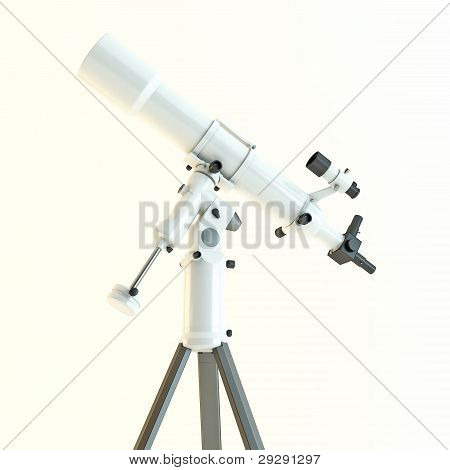 Telescope isolated on white