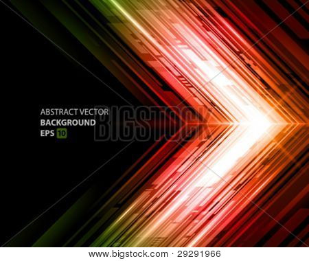 Abstract shiny technology lines and light vector background. Eps 10