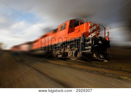 Speeding Locomotive