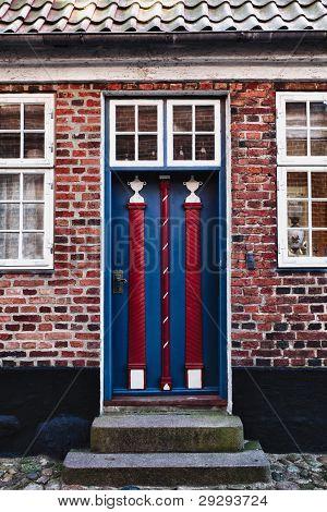 Antique Door In Ribe, Denmark