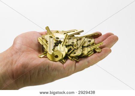 Hand und Schlüssel