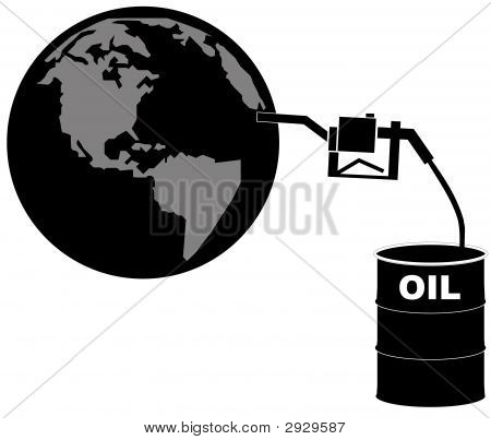 Barrel Of Oil Fueling The Globe