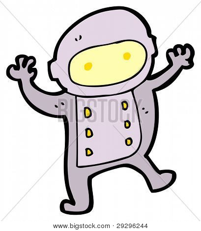 little spaceman cartoon (raster version)