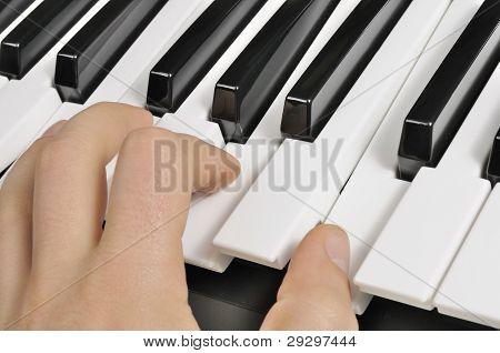 Musician Playing The Piano (MIDI Keyboard)