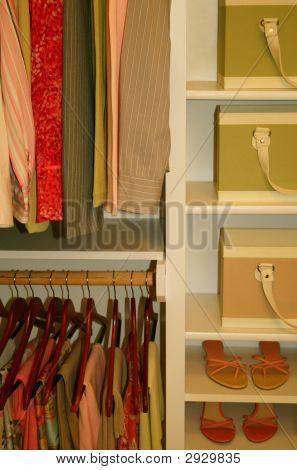 Neatly Organized Womens Closet