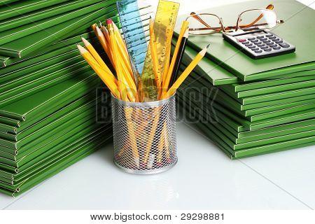 Green folder closeup