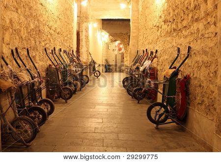 Handcarts In Souq, Doha