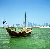 picture of qatar  - A traditional Arab dhow of the common Shuw - JPG