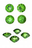 picture of peridot  - Round peridot isolated on white background - JPG